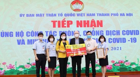 Hà Nội: Tiếp nhận hơn 3,5 tỷ đồng ủng hộ công tác phòng, chống dịch Covid-19