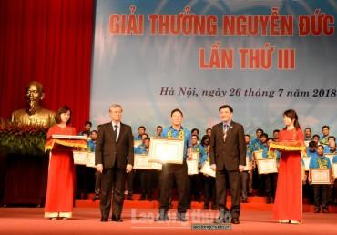 Vinh danh 70 công nhân đoạt Giải thưởng Nguyễn Đức Cảnh lần thứ ba