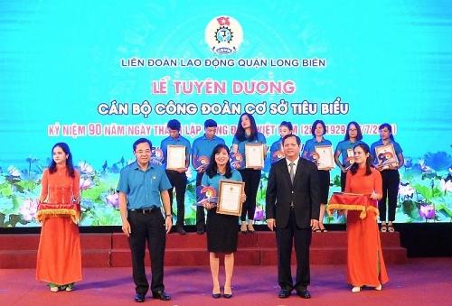 Liên đoàn Lao động quận Long Biên: Tuyên dương 90 cán bộ công đoàn tiêu biểu