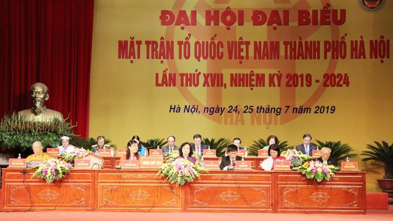 330 đại biểu tham dự Đại hội Mặt trận Tổ quốc Việt Nam thành phố Hà Nội lần thứ XVII