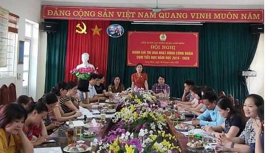 Liên đoàn Lao động quận Long Biên: Đánh giá thi đua hoạt động công đoàn khối trường học
