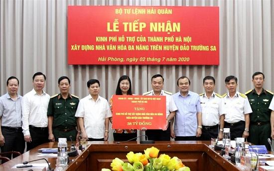 Nhân dân Thủ đô Hà Nội góp 38 tỷ đồng xây dựng Nhà Văn hóa đa năng trên huyện đảo Trường Sa