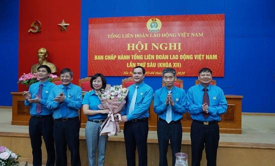 Đồng chí Bùi Huyền Mai được bầu vào Ban Chấp hành Tổng Liên đoàn Lao động Việt Nam khóa XII