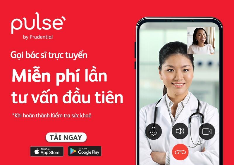 Gọi bác sĩ trực tuyến miễn phí để kiểm tra sức khỏe mùa dịch trên ứng dụng Pulse by Prudential
