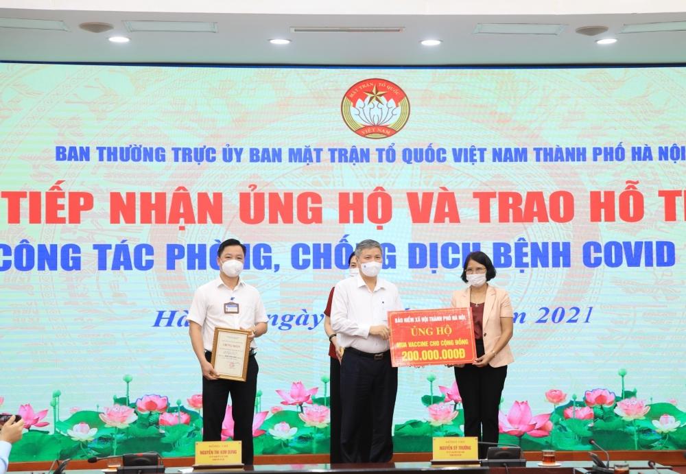 Hà Nội: Tiếp nhận hơn 3,9 tỷ đồng ủng hộ mua vắc xin và phòng, chống dịch Covid-19