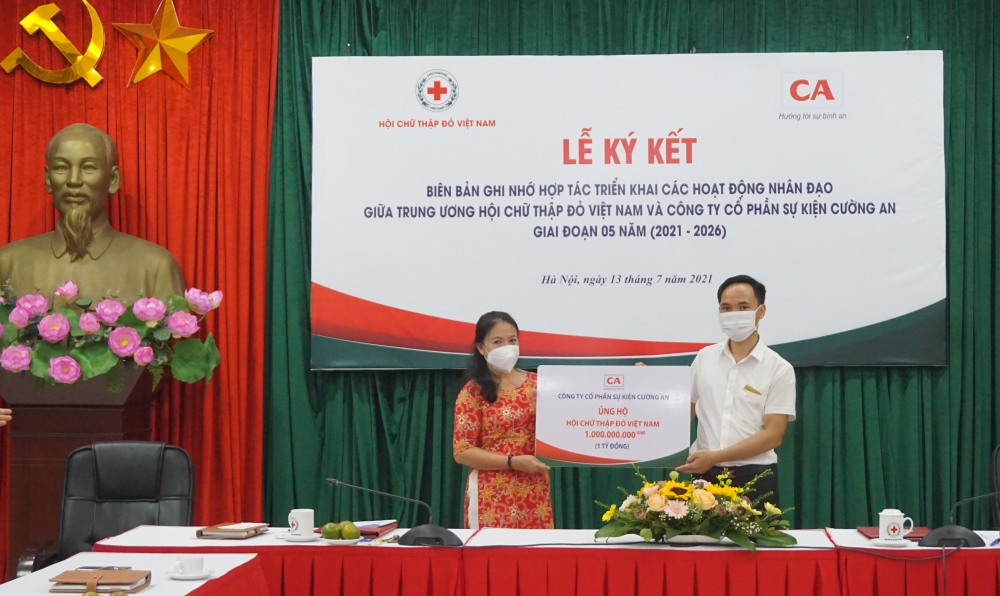 Trung ương Hội Chữ thập đỏ và Công ty Cường An hợp tác triển khai các hoạt động nhân đạo