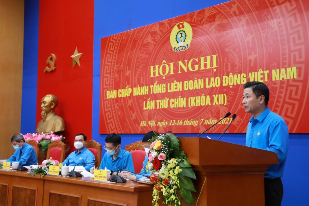 Đồng chí Nguyễn Phi Thường được bầu vào Đoàn Chủ tịch Tổng Liên đoàn Lao động Việt Nam với số phiếu tuyệt đối