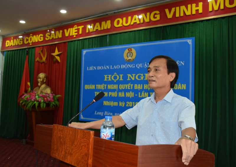 Long Biên: Quán triệt Nghị quyết Đại hội XVI Công đoàn Thành phố
