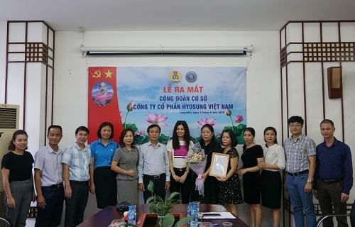 Ra mắt Công đoàn Công ty cổ phần Hyosung Việt Nam với 36 đoàn viên