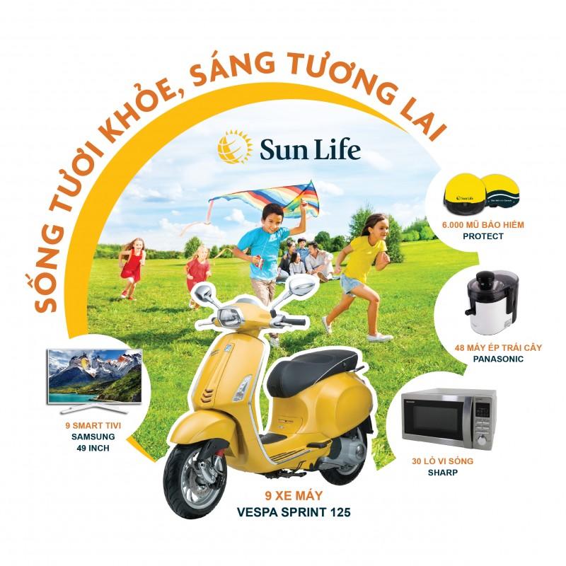 """Quà tặng liền tay với chương trình """"Sống tươi khỏe, Sáng tương lai"""" của Sun Life"""