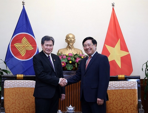 Phó Thủ tướng Phạm Bình Minh tiếp Tổng Thư ký ASEAN