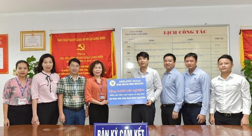 Ký gói thỏa thuận ưu đãi trị giá 1 tỷ đồng dành cho đoàn viên công đoàn quận Long Biên