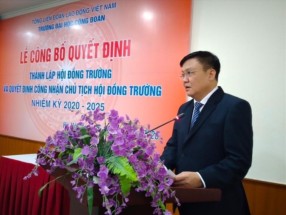 Điều động đồng chí Lê Cao Thắng giữ chức Chủ tịch Hội đồng Trường Đại học Công đoàn