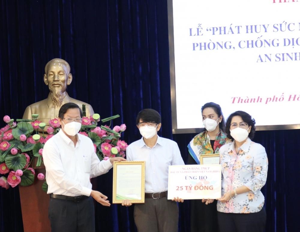 BIDV tiếp tục ủng hộ nguồn lực giúp thành phố Hồ Chí Minh phòng, chống dịch