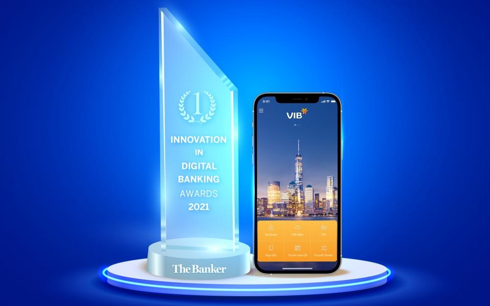 """VIB được trao giải """"Đổi mới sáng tạo trong lĩnh vực Ngân hàng số năm 2021"""""""