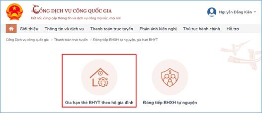 Hướng dẫn đóng BHXH tự nguyện, gia hạn thẻ BHYT theo hộ gia đình