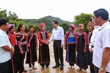 Chủ tịch Ủy ban Trung ương MTTQ Việt Nam thăm đồng bào Lai Châu