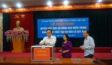 Ủy ban Trung ương MTTQVN kêu gọi ủng hộ đồng bào miền Trung