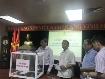 Tổng Liên đoàn Lao động Việt Nam phát động quyên góp ủng hộ đồng bào miền Trung