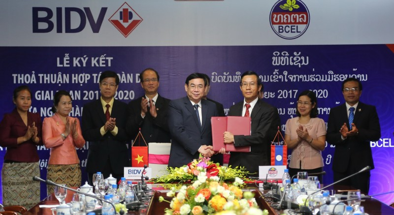 BIDV hợp tác toàn diện với Ngân hàng Ngoại thương Lào