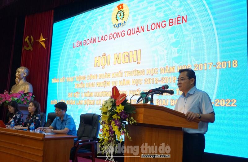 LĐLĐ quận Long Biên: Khen thưởng 80 tập thể, cá nhân xuất sắc khối trường học