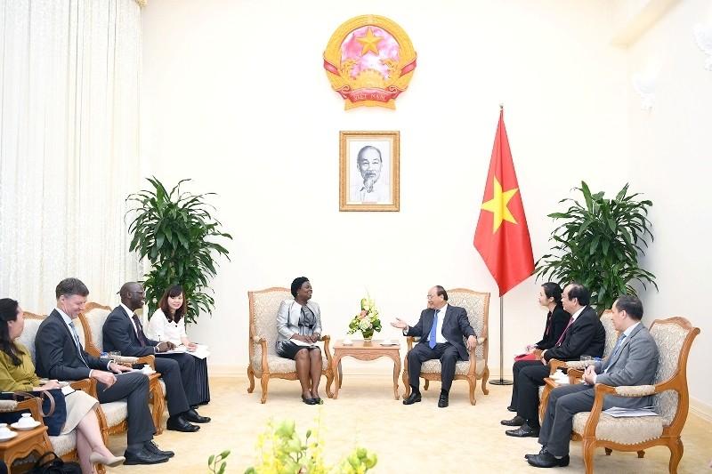 Thủ tướng Chính phủ Nguyễn Xuân Phúc tiếp Phó Chủ tịch Ngân hàng Thế giới
