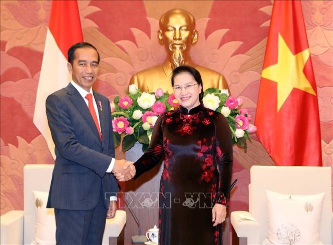 Chủ tịch Quốc hội Nguyễn Thị Kim Ngân tiếp Tổng thống Cộng hòa Indonesia