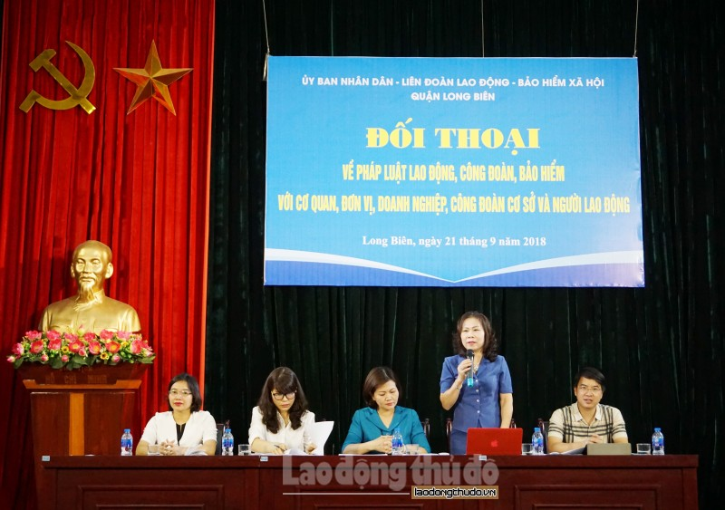 UBND quận Long Biên: Đối thoại về pháp luật lao động, công đoàn, BHXH