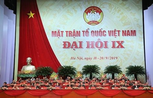 Đại hội đại biểu toàn quốc Mặt trận Tổ quốc Việt Nam thành công tốt đẹp