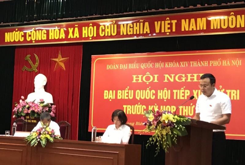 Đại biểu Quốc hội thành phố Hà Nội tiếp xúc cử tri tại quận Long Biên