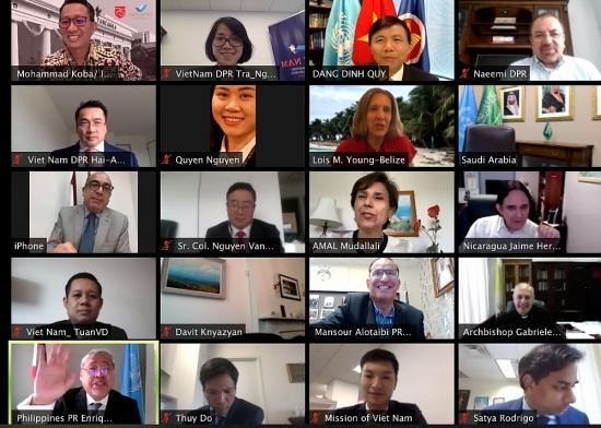 Phái đoàn Việt Nam tại New York tổ chức lễ kỷ niệm trực tuyến 75 năm Ngày Quốc khánh 2/9