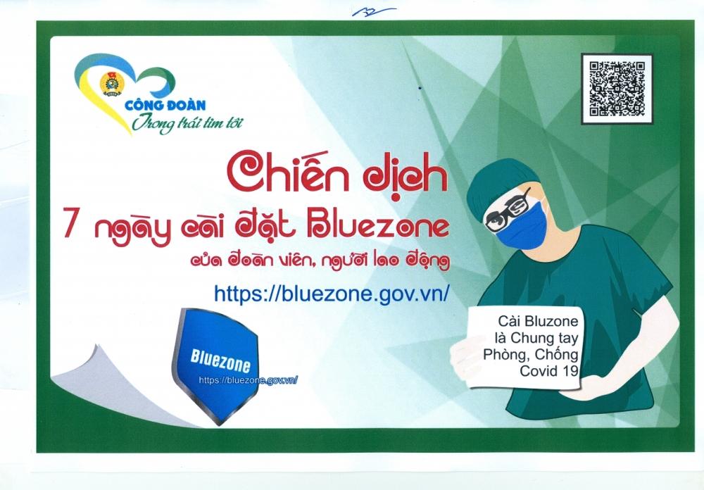 Gần 6 triệu đoàn viên, công nhân viên chức lao động cài đặt và sử dụng Bluezone