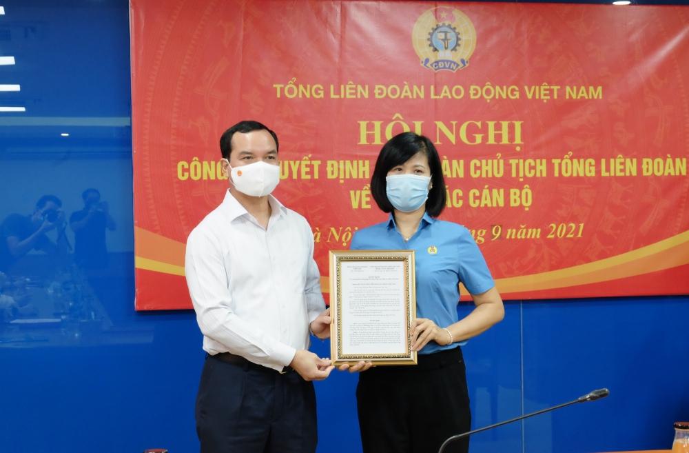 Tổng Liên đoàn Lao động Việt Nam công bố các quyết định về công tác cán bộ