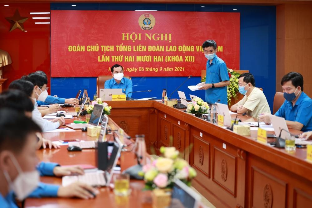 Khai mạc Hội nghị Đoàn Chủ tịch Tổng Liên đoàn Lao động Việt Nam lần thứ 22 khóa XII