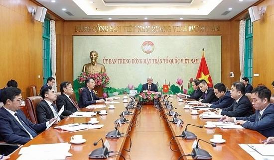 Chủ tịch Ủy ban Trung ương MTTQ Việt Nam điện đàm với Chủ tịch Chính hiệp toàn quốc Trung Quốc