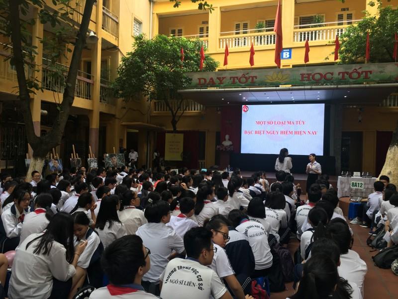 Trường THCS Ngô Sĩ Liên tuyên truyền về phòng chống ma túy tới học sinh
