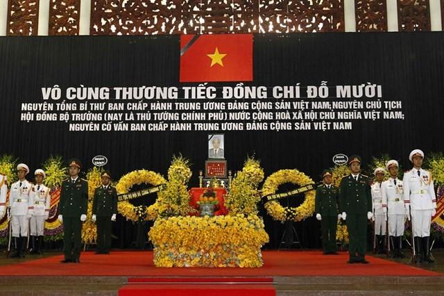 Lãnh đạo các nước, các đảng bày tỏ thương tiếc về sự ra đi của đồng chí Đỗ Mười
