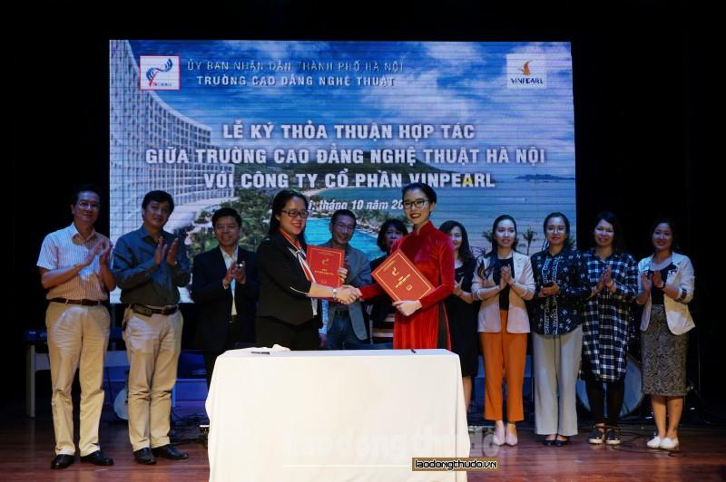 Trường Cao đẳng Nghệ thuật Hà Nội và Vinpearl hợp tác hỗ trợ sinh viên