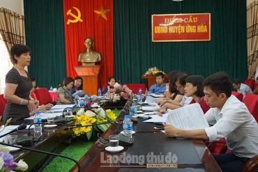 Khảo sát đào tạo nghề cho lao động nông thôn tại huyện Ứng Hòa