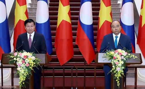 Việt Nam-Lào: Tăng cường quan hệ hữu nghị vĩ đại, đoàn kết đặc biệt và hợp tác toàn diện