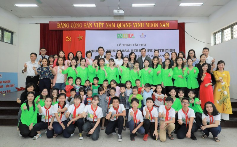 Hơn 500 học sinh Trường Phổ thông cơ sở Xã Đàn được hỗ trợ dinh dưỡng
