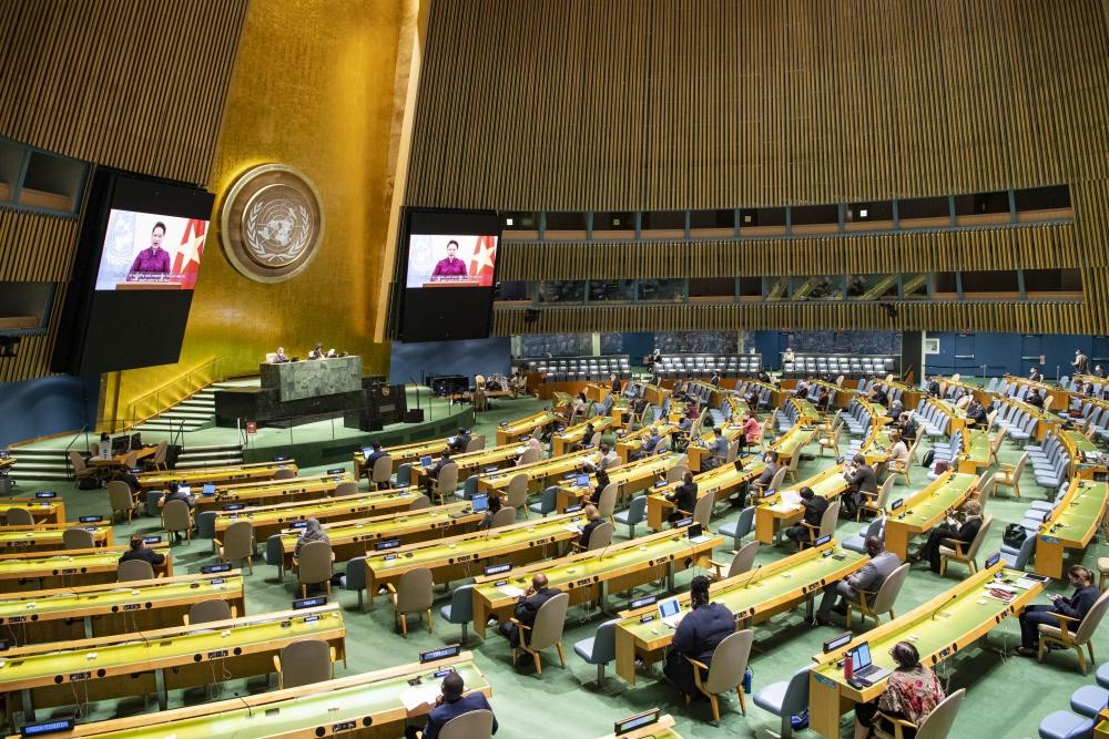Chủ tịch Quốc hội Nguyễn Thị Kim Ngân gửi thông điệp tới Phiên cấp cao kỷ niệm 25 năm Hội nghị Thế giới về phụ nữ