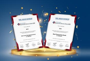 BIDV được vinh danh là ngân hàng giao dịch và quản lý tiền tệ tốt nhất Việt Nam