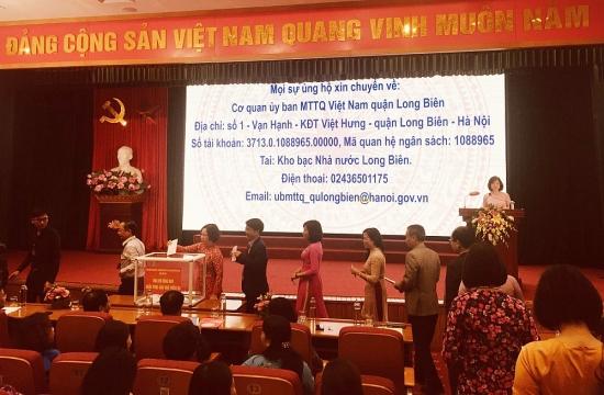Long Biên: Nhiều công đoàn cơ sở quyên góp ủng hộ đồng bào các tỉnh miền Trung