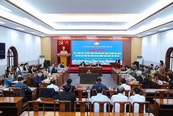 Lấy ý kiến các tổ chức thành viên vào dự thảo văn kiện Đại hội Đảng toàn quốc