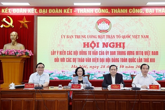 Lấy ý kiến các Hội đồng tư vấn của Mặt trận vào dự thảo văn kiện trình Đại hội Đảng