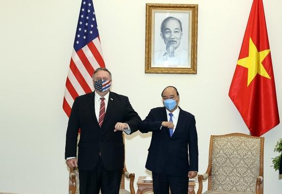 Thủ tướng Chính phủ Nguyễn Xuân Phúc tiếp Ngoại trưởng Hoa Kỳ Michael Pompeo
