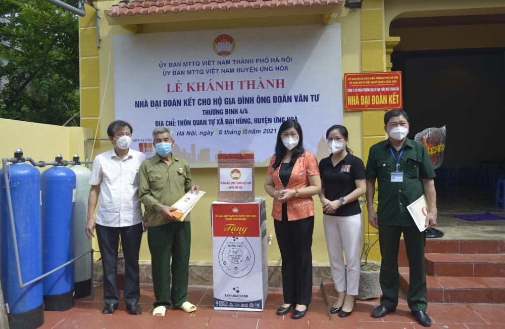 Khởi công và bàn giao nhà Đại đoàn kết tới 2 hộ gia đình người có công huyện Ứng Hòa