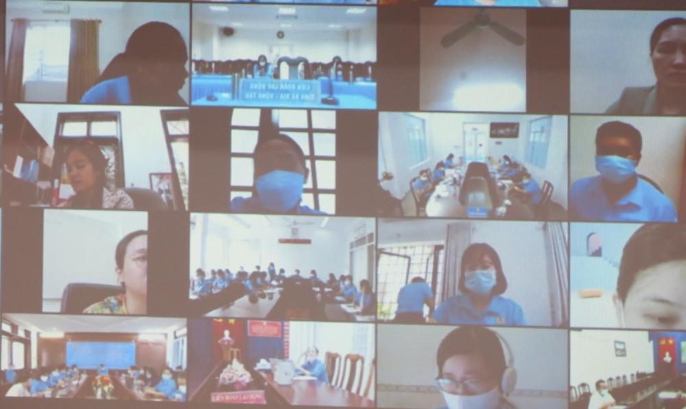 Tổng LĐLĐ Việt Nam tập huấn trực tuyến về chế độ và phần mềm kế toán công đoàn