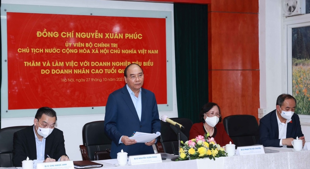 Chủ tịch nước Nguyễn Xuân Phúc thăm Rạng Đông - doanh nghiệp tiêu biểu do doanh nhân cao tuổi quản lý